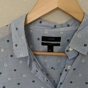 J. Crew Tops - J Crew TALL embroidered perfect shirt